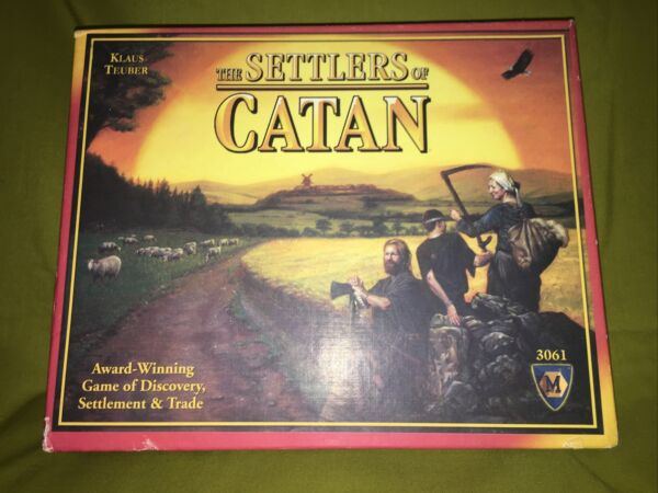 Settlers of Catan Board Game 3rd Edition 3061 Mayfair Complete