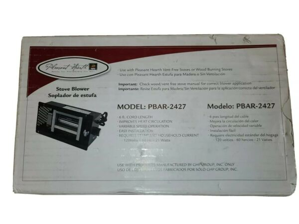 Pleasant Hearth PBAR2427 Wood Stove Blower Vent Free Stove Blower $45.00