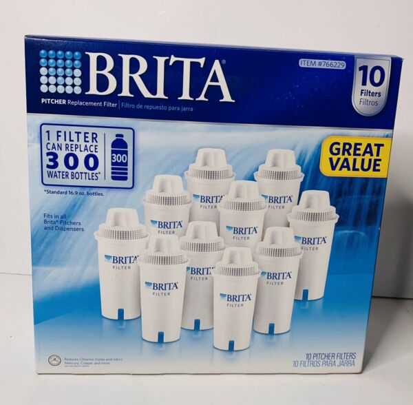 Brita 10 Pack Pitcher Replacement Filters #766229. Sealed Box's Ships Same Day
