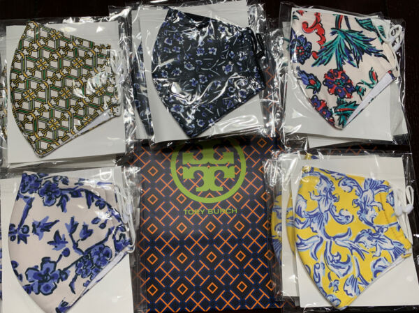 Tory Burch Printed Face Mask Choose From Patterns Listed NEW