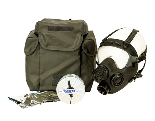 Gas Mask MP5 Authentic Polish with Sealed Filter and Nylon Storage bag BRAND NEW