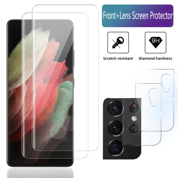 For Samsung Galaxy S21 Plus Ultra 5G Camera Lens Tempered Glass Screen Protector