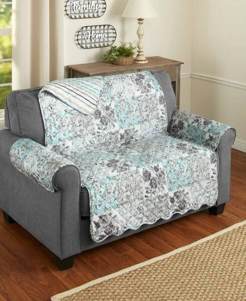 Floral Quilted Furniture Covers Slipcovers Protectors Chair Loveseat Sofa Couch $20.86