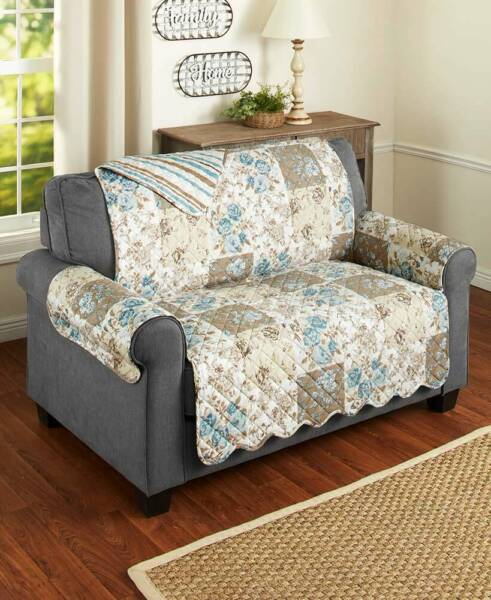 Floral Quilted Furniture Covers Slipcovers Protectors Chair Loveseat Sofa Couch $34.79