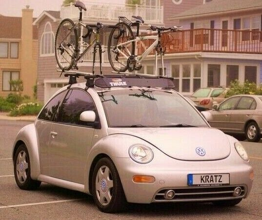 Complete Thule Roof Rack WITH Windscreen amp; Locks VW Beetle 1998 to 2011 $499.95