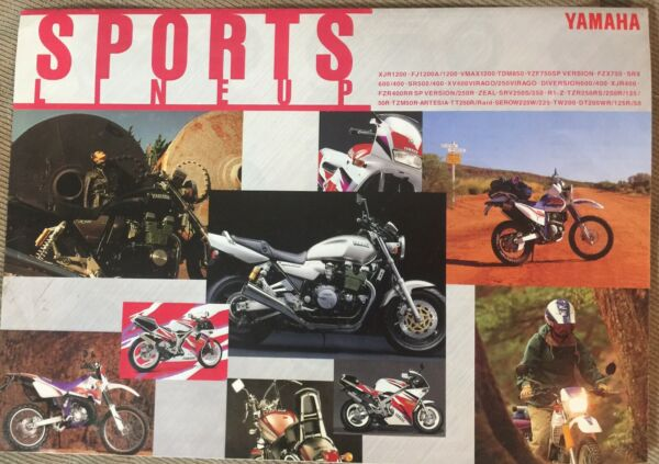 1995? YAMAHA SPORTS LINE UP MOTORCYCLE USED Brochure in Japanese $19.95
