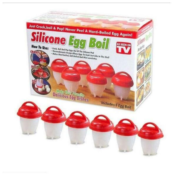 K Kudos Non Stick Silicone Egg BoilerHard Boiled Eggs Without The 6bW $19.99