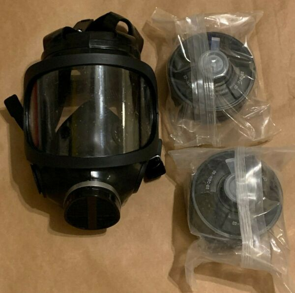 Gas Masks NATO Approved Mil Spec Masks with Two 40mm Sealed Filters BRAND NEW $90.00
