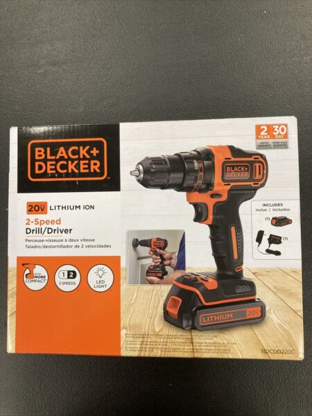 Black amp; Decker 2 Speed 20v Drill Driver