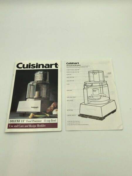 Cuisinart Deluxe 11 DFP 11 Food Processor Replacement Instruction Manual Booklet
