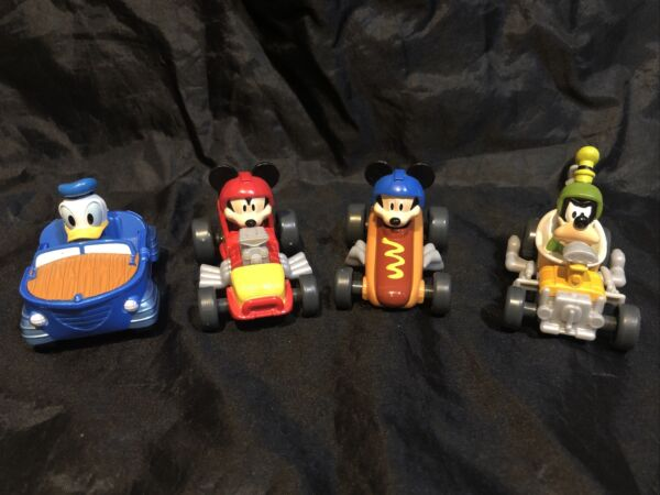 Fisher Price Disney Mickey Roadster Racers Toy HOT DOG Cars Donald Goofy Lot $22.99