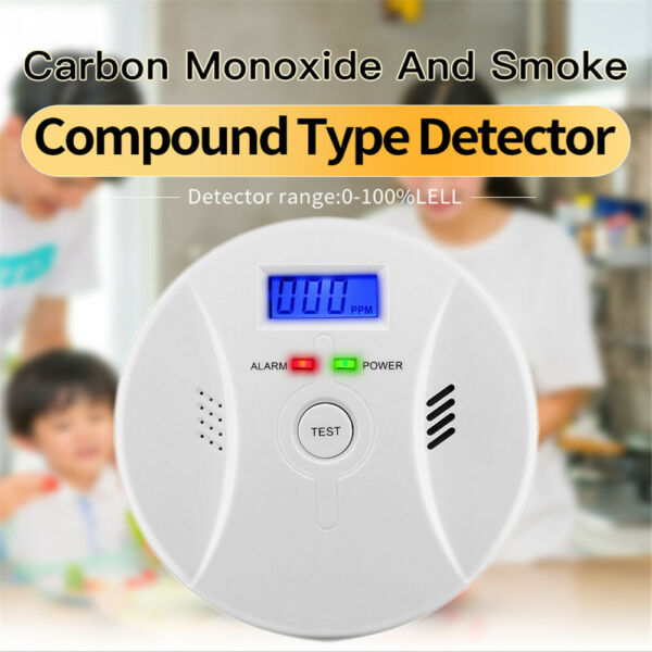 Carbon Monoxide CO and Smoke 2in1 Combination Detector Alarm Battery Operated $18.50
