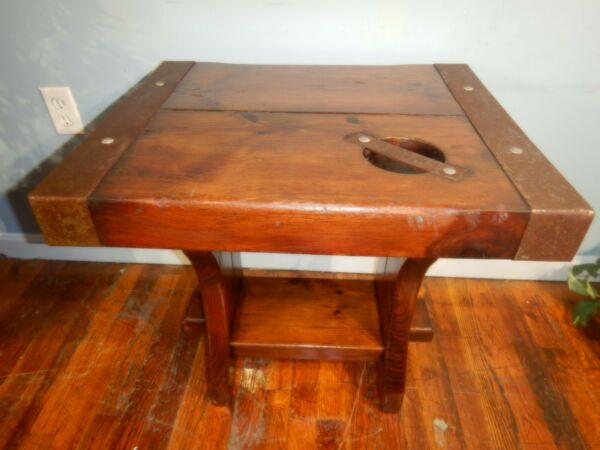 Heavy Pine Ship Hatch Style Cover Coffee End Table $85.00
