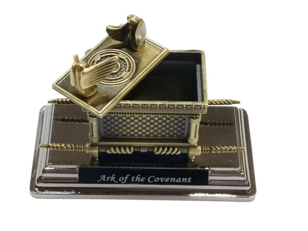 Small Brass Plated Ark of the Covenant Replica Judaica Gift from the Holy Land