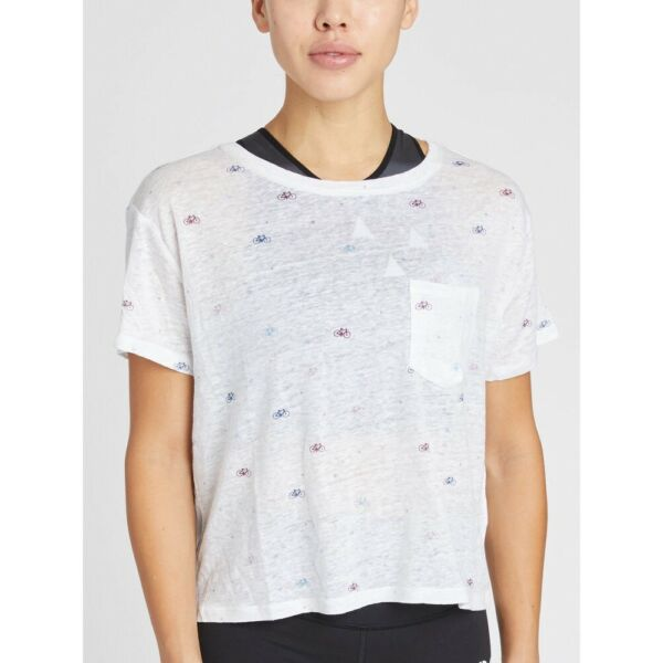 SOULCYCLE X RAILS Billie Bike Bike amp; Star Pattern Cropped Tee Size Small $55.00