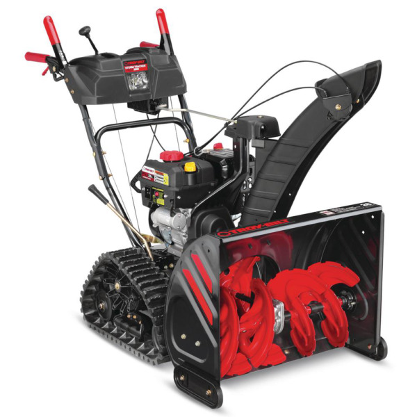 26 In. 208 Cc Two Stage Gas Snow Blower With Electric Start And Track Drive And