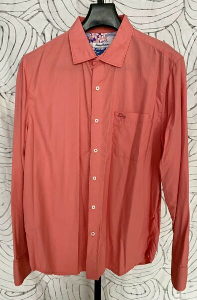 Tommy Bahama Long Sleeve Coral Mens Shirt Size L $29.99