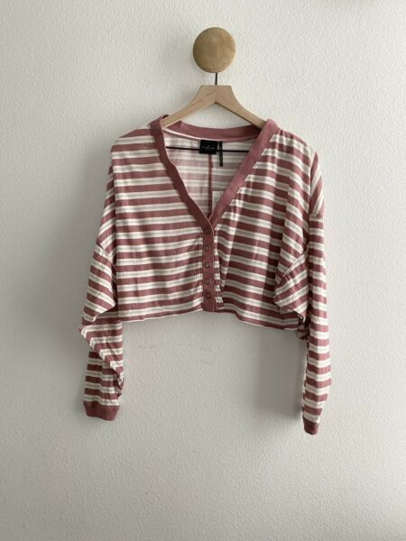 NWT Out From Under for Urban Outfitters Striped Button Cardigan Shirt Size XS $25.00