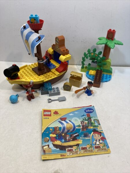 Lego DUPLO Jake#x27;s Pirate Ship Bucky #10514 Retired Complete 56 Pcs. 2013