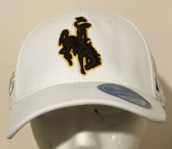 Wyoming Cowboys Fitted Cap Hat M L Top Of The World Memory Fit NCAA NEW $16.00
