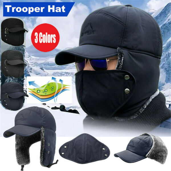 Unisex Outdoor Bike Cold Proof Ear Warm Cap Thickened Ear Warmer Winter Hat New $7.30