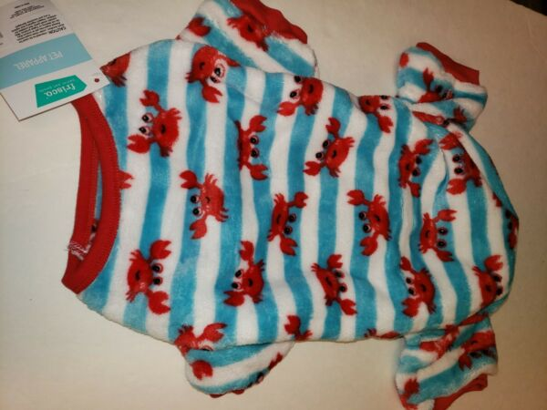 SMALL DOG Clothes Fleece PJ#x27;S Pajamas One Piece Sz: Small Dog Large NWT $6.99