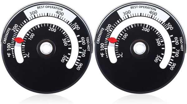 Magnetic Wood Stove Thermometer Fire Stove Pipe for Avoiding Stove Damaged 2Pack $13.58