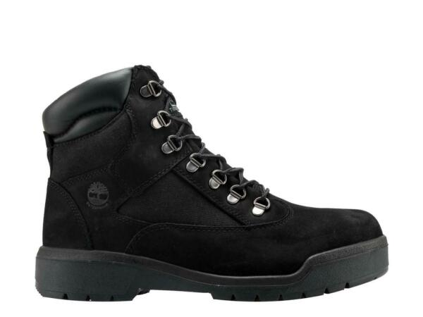 Timberland Men#x27;s 6quot; Waterproof Field Boots NEW AUTHENTIC Black A17KC 001 $169.99