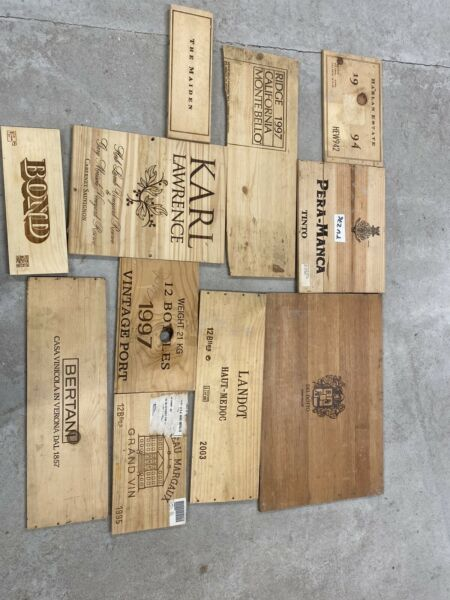 12 Wooden Wine Box End Panels from Wine Crates for Decoration Rare Wines Lot 9