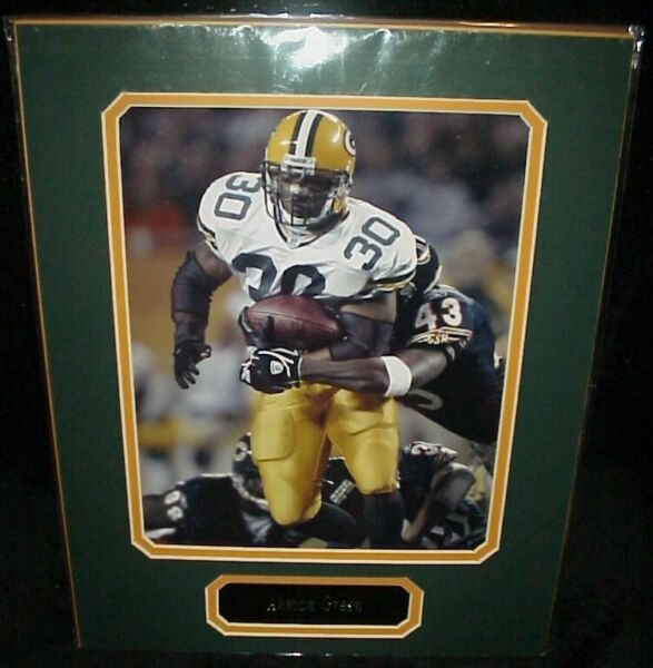 Ahman Green Packers Matted Photo amp; Name Plate 11x14 Ready for Framing A 45