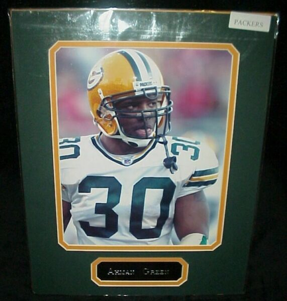 Ahman Green Packers Matted Photo amp; Name Plate 11x14 Ready for Framing A 46