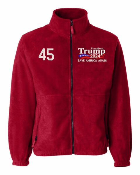 Trump 2024 quot;Save America Againquot; Embroidered Sierra Pacific 3061 Fleece Jacket