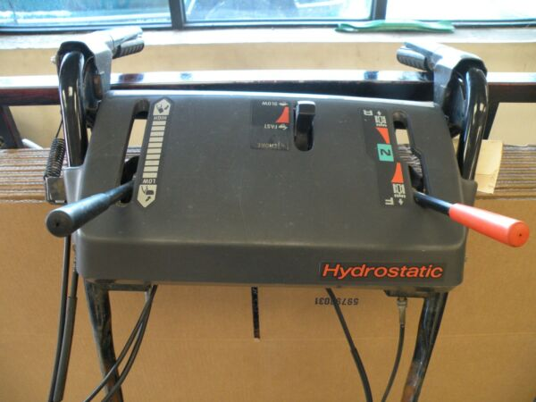 HONDA HS 928 CONSOLE CONTROL PANEL ASSEMBLY CABLES LEVERS UPPER HANDLE USED