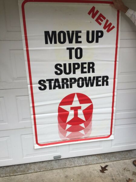 TEXACO VINTAGE SIGN GAS STAR POWER AUTHENTIC LARGE 6 FOOT $25.00