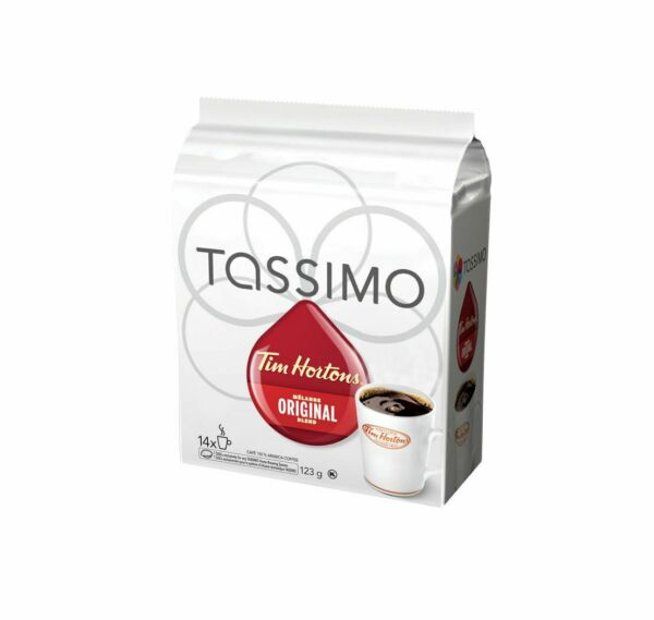 4X Tassimo Tim Hortons Original Blend Coffee 14 Count Each 56 TOTAL Canada FRESH
