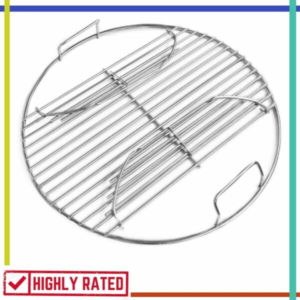 GRILL GRATE Stainless Steel Charcoal Cooking Replacement with Hinges GRILLVANA