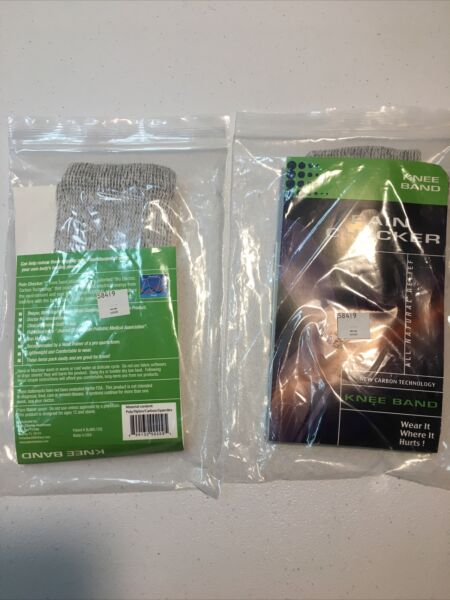 2 Pain Checker Knee Bands All Natural Releif New Carbon Technology New $14.99