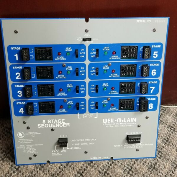 Weil McLain 8 stage boiler control ; NEW $474.00