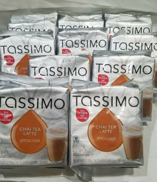 5 Packs TASSIMO Chai Tea Latte w Milk Creamer 40 servings total 8 each 1 12 21