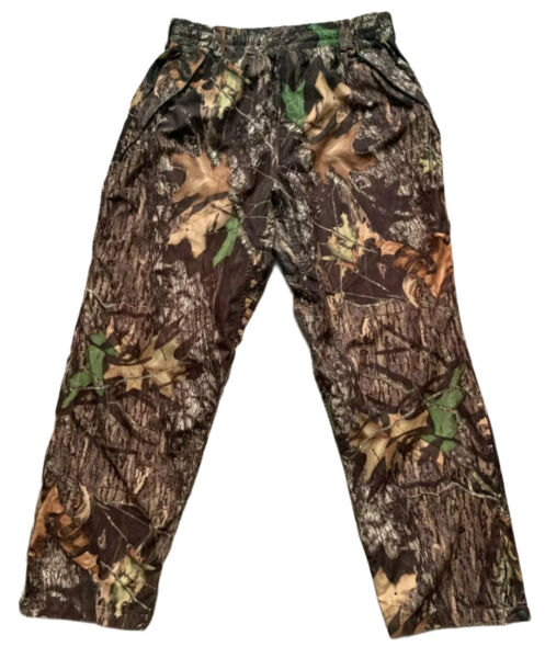 Remington Hunting Camo Cargo Pants Lined Ankle Zips Size XL