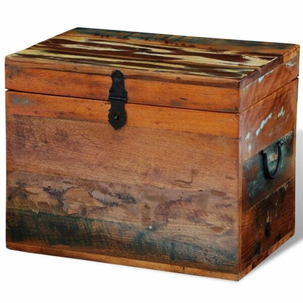 Solid Wood Reclaimed Storage Box Chest Organizer Trunk Indoor Stand $90.95