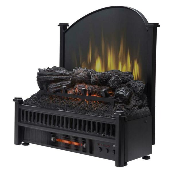 Pleasant Hearth LK 24 Electric Fireplace Logs Insert Removable Fireback amp; Heater
