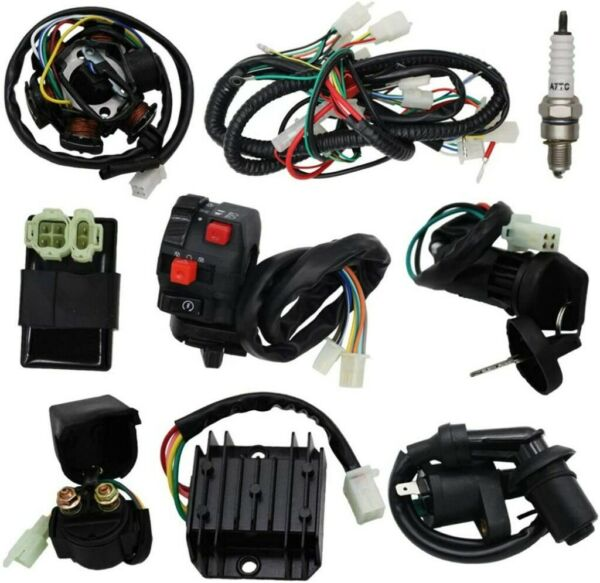 Electric Wiring Harness Loom Kit CDI Stator for GY6 125cc 150cc ATV Quad GO Kart $34.88