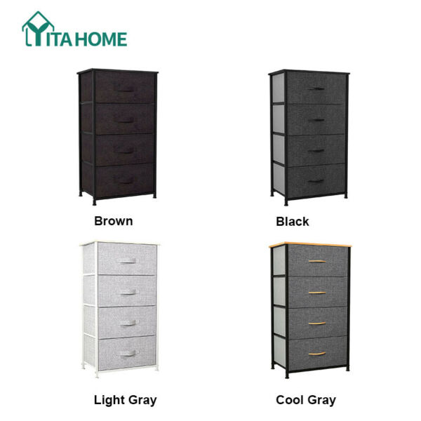 YITAHOME Storage Drawers Dresser Furniture 4 Bins Bedroom Chest of Organizer $59.03