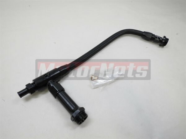 Braided Holley 4150 4160 Double Pumper Fuel Line Log Black Anodized SBC BBC $40.99