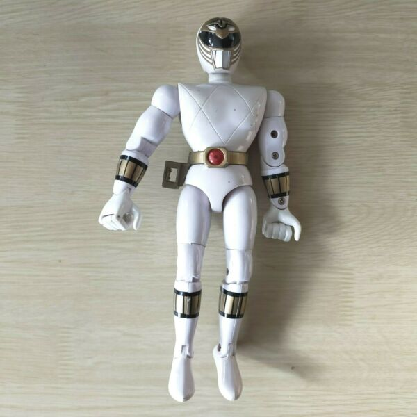 "Power Rangers Tommy White Ranger 1993 Bandai 8"" Action Figure Mighty Morphin GBP 10.99"