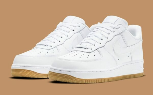 Nike Air Force 1 #x27;07 Shoes White Gum Sole DJ2739 100 Men#x27;s NEW