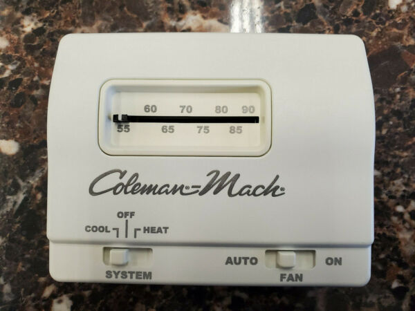 Coleman Heat Cool Wall Thermostat White 7330F3852 $75.00