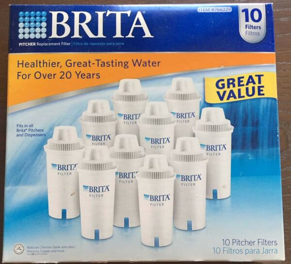 BRITA Replacement Water Pitcher FILTERS 10 Pack 1 = 11 #766229 New In Box