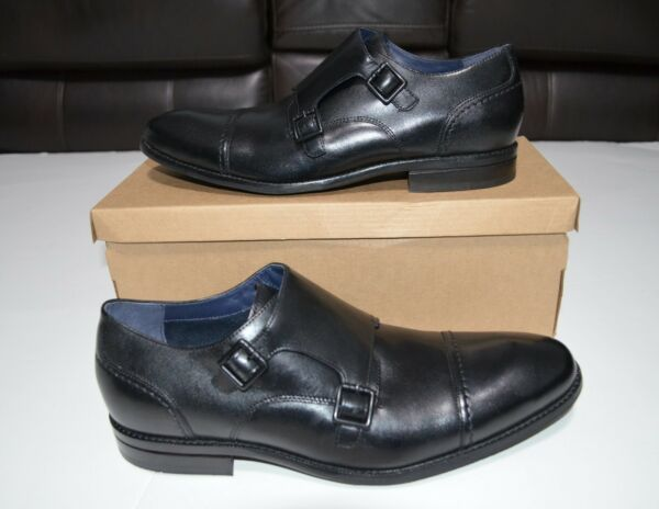 Cole Haan Jefferson Grand Double Monk Strap Oxford Men#x27;s Black Shoes US 11 $300 $100.00